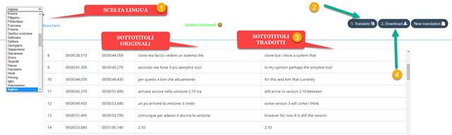 traduzione sottotitoli con tool online