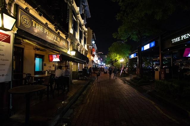 Boat Quay di notte-Singapore