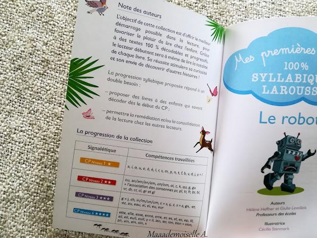 Mes premières lectures 100% syllabiques, Larousse, Le robot