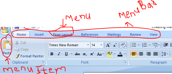 menu based application