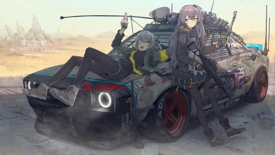 Anime, Girls Frontline, UMP40, UMP45, 4K, #6.1282