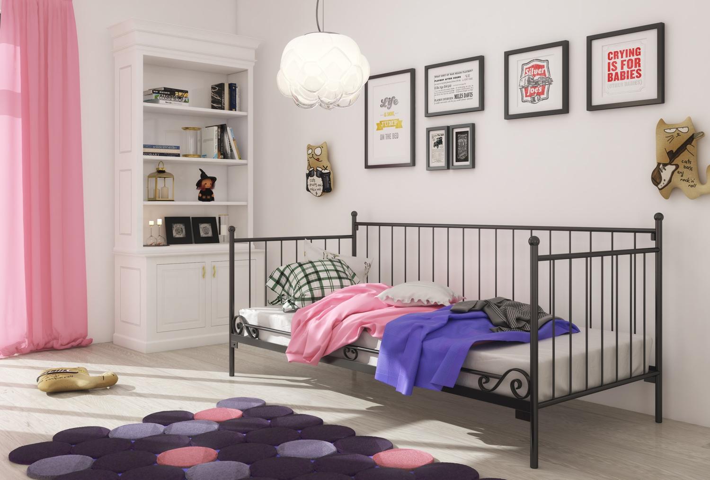 Łóżko metalowe sofa wzór 14