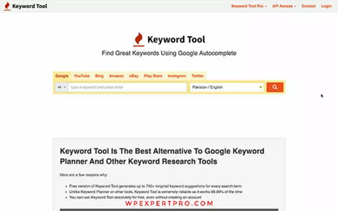 10. KeywordTool.io