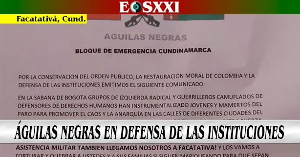 En apoyo al gobierno nacional, grupo ilegal amenaza a ciudadanos