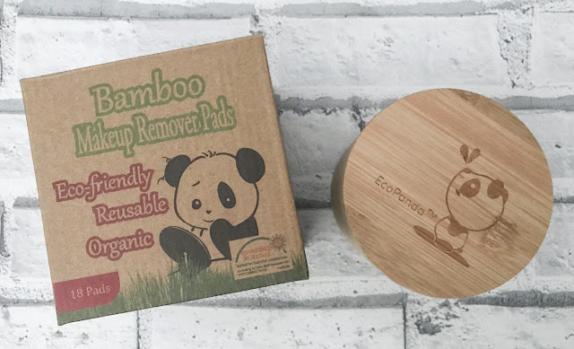 Flatlay showing a cardboard box with the Bamboo logo and panda printed on the front and the caddy