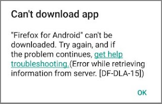 Google Play – Error DF-DLA-15