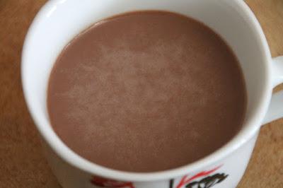 Müllermilch der Saison - Schoko Minze in der Tasse