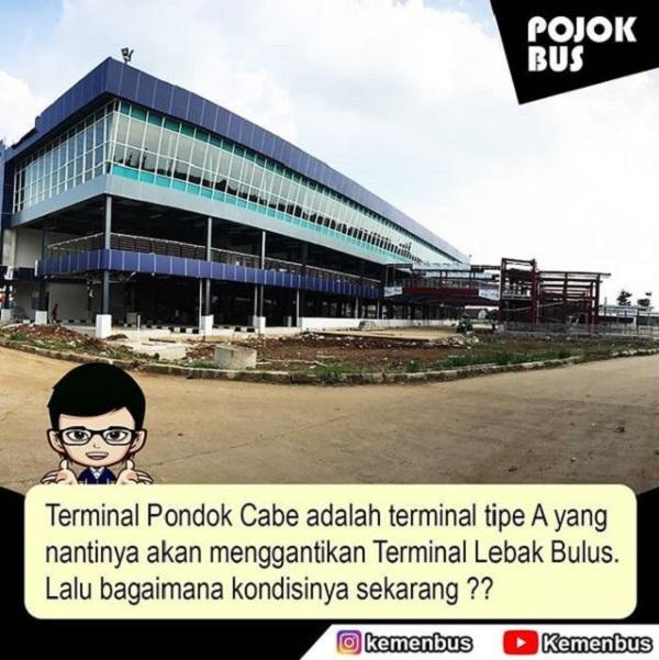 Terminal Pondok Cabe menggantikan Terminal Lebak Bulus