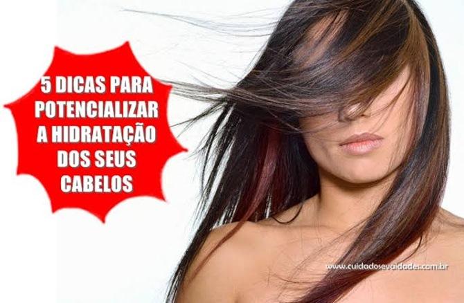 5 Dicas para potencializar hidratação dos cabelos