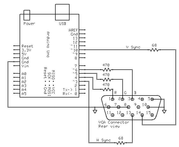 arduino tehniq: arduino on vga display home theater connection diagram laptop to lg tv to