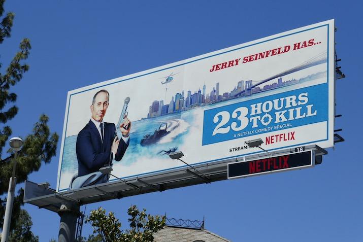 Jerry Seinfeld 23 Hours to Kill Netflix billboard