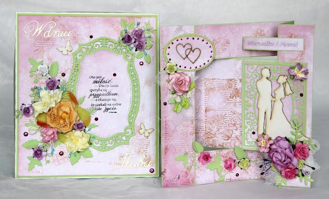 ślubny exploding box, na ślub, prezent, co dać od świadków na wesele, życzenia ślubne, Magiczna Kartka Magia Ombre, I-Kropka inspiracje, pastelove love, kartka składak