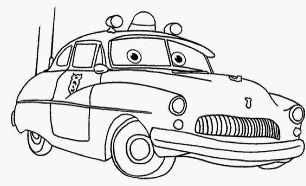 Gambar mewarnai mobil untuk anak gratis