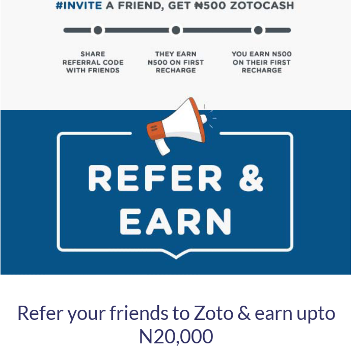 ZOTO REFERRALS IS BACK EARN UP TO 20,000 - L A R R Y FORWARD