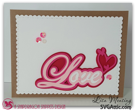 SVG Attic Sweetheart Caption Valentine's Day Cards