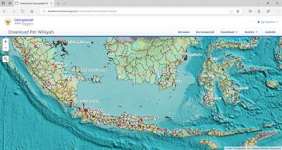 Halaman unduh peta per wilayah