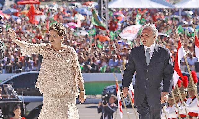 Foto da Segunda Posse da Presidenta Dilma Rousseff.