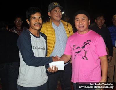H Sugianto Sabran bantu Bambo Foundatioan