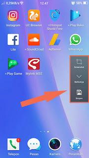 Membuat Screenshot panjang di hp android tanpa aplikasi di hp oppo
