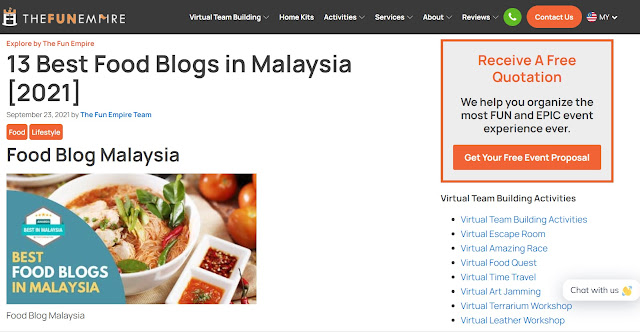 13 Best Food Blogs In Malaysia 2021