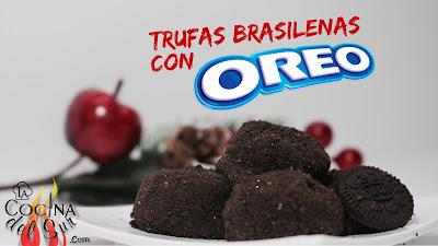 Trufas Basileñas de Oreo - Brigadeiro  Brazilian  Truffles