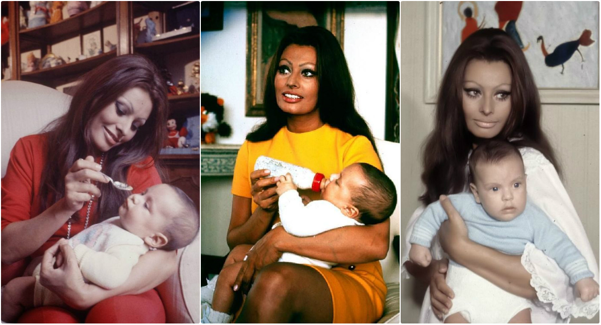 Lovely Photos Of Sophia Loren At Home In Italy With Her Son Carlo Ponti Jr In 1969 Vintage News Daily