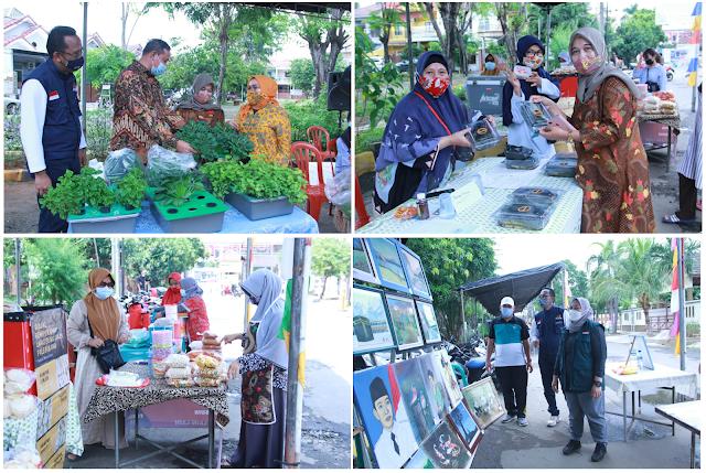 Buka Bazaar UMKM, Mas Tri Apresiasi Kreatifitas dan Konsistensi RW 026 Pejuang Medan Satria
