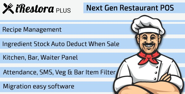 iRestora PLUS v3.1 - Next Gen Restaurant POS