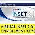 Virtual INSET 2.0 Enrollment Keys for teachers, parents, learners