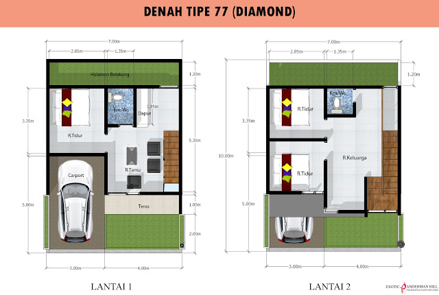 Exotic Panderman Hill: Denah Tipe 77