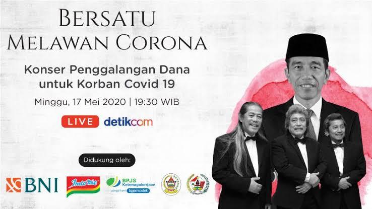 Konser 'Bersatu Melawan Corona' Sukses Galang Rp 4 M Selama 2 Jam