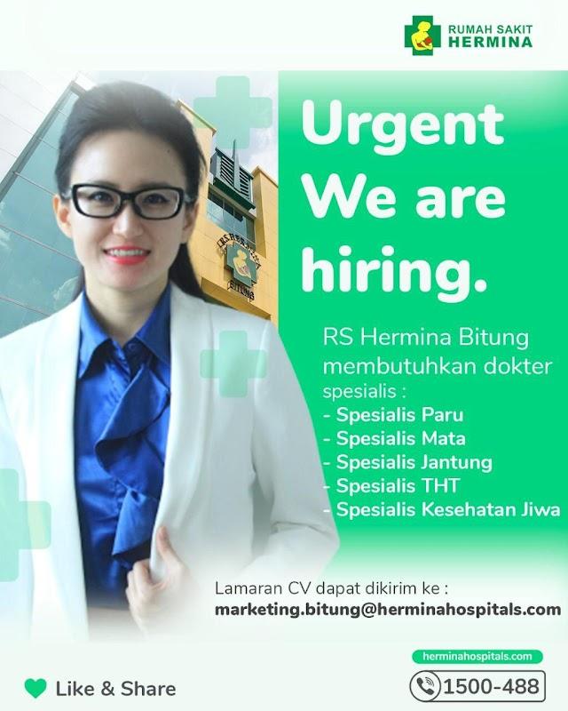 Loker Dokter RS Hermina Bitung Tangerang, Banten