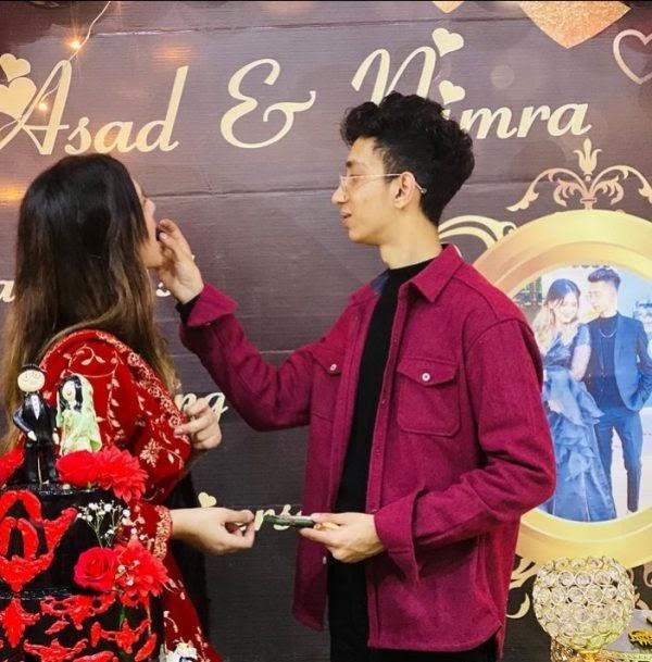 viral Couple Asad and Nimra wedding anniversary