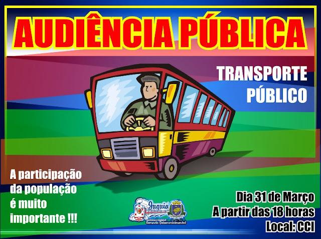 Prefeitura de Juquiá realizará Audiência Pública para discutir e dar transparência a concessão do Transporte Público.