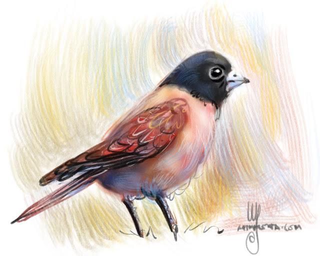 Bird painting by Ulf Artmagenta