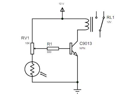 Rangkaian Sensor Cahaya LDR