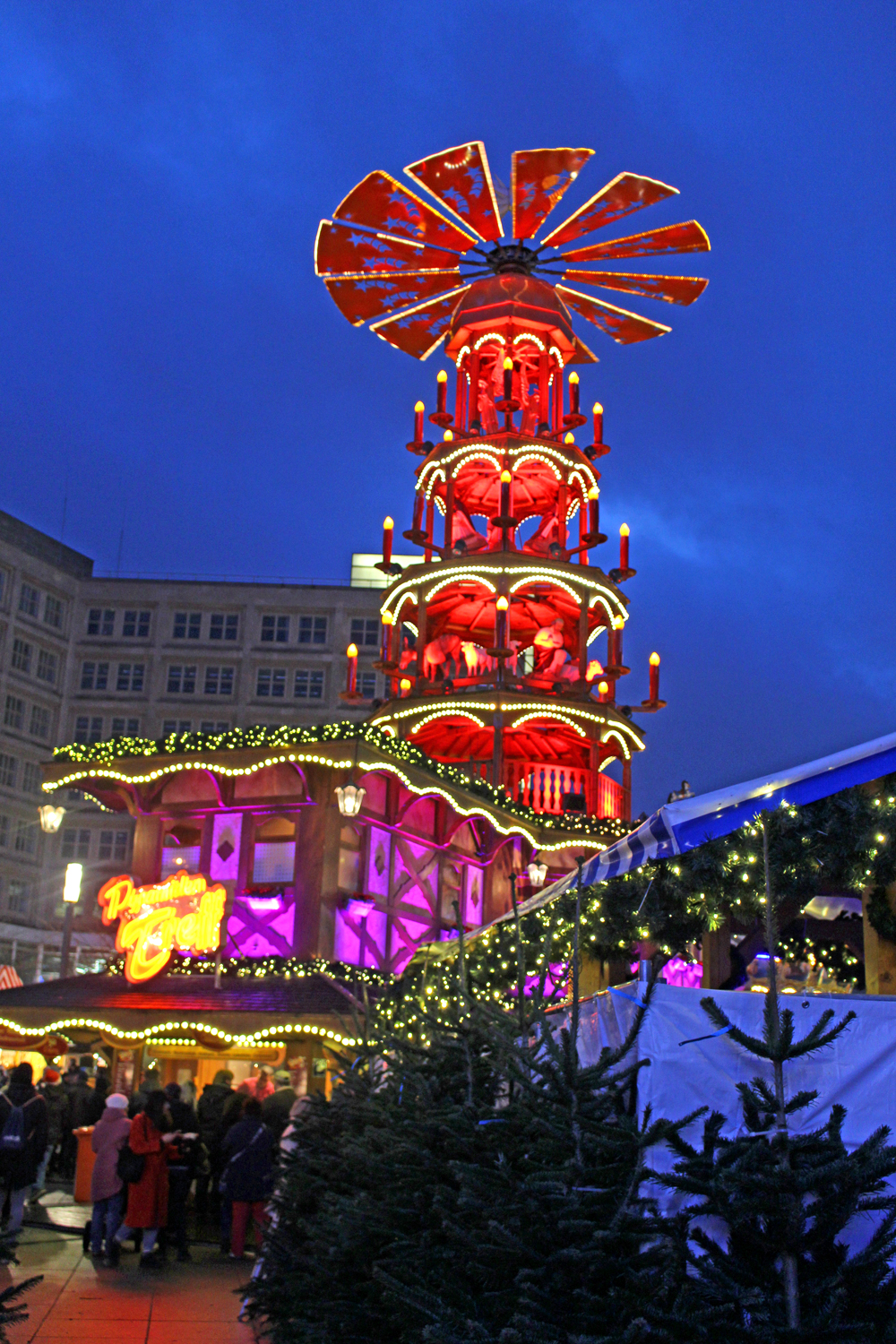 Wooden Christmas Pyramid at the Berlin Christmas markets - travel & lifestyle blog