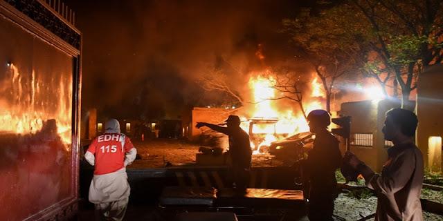 Hotel Di Pakistan Tempat Dubes China Menginap Diserang Bom, 11 Orang Tewas