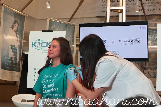 Yuki Kato vaksinasi HPV