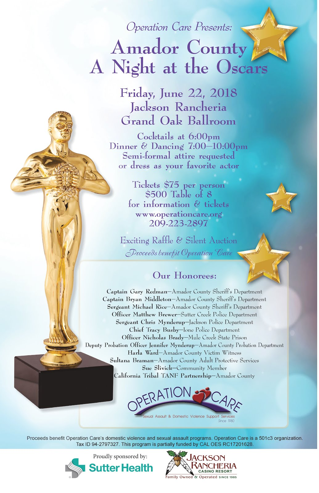 Operation Care: A Night at the Oscars - Fri June 22