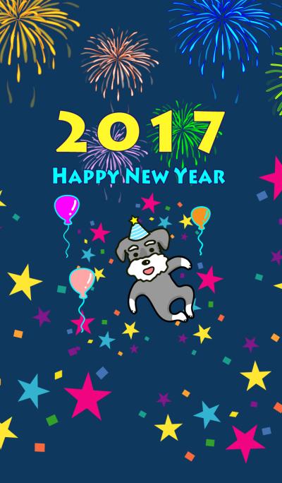 HAPPY NEW YEAR 2017 ( Schnauzer)