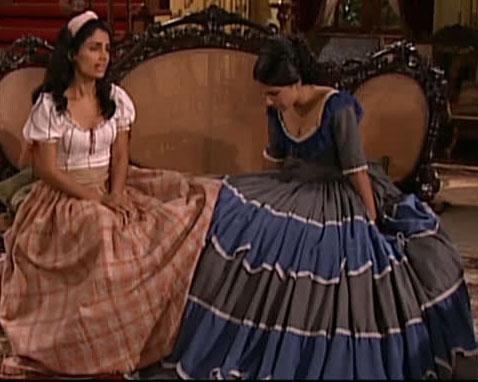 Rosa e Malvina cena em a escrava isaura