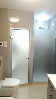 Frosted Glass Bathroom and Shower Doors