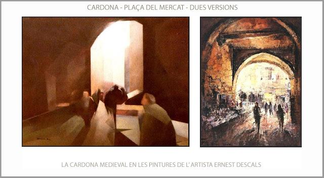 CARDONA-PINTURA-MEDIEVAL-HISTORIA-PLAÇA-MERCAT-PINTURES-VERSIONS-QUADRES-ARTISTA-PINTOR-ERNEST DESCALS