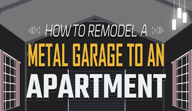 How to Remodel a Metal Garage to an Apartment #infographic