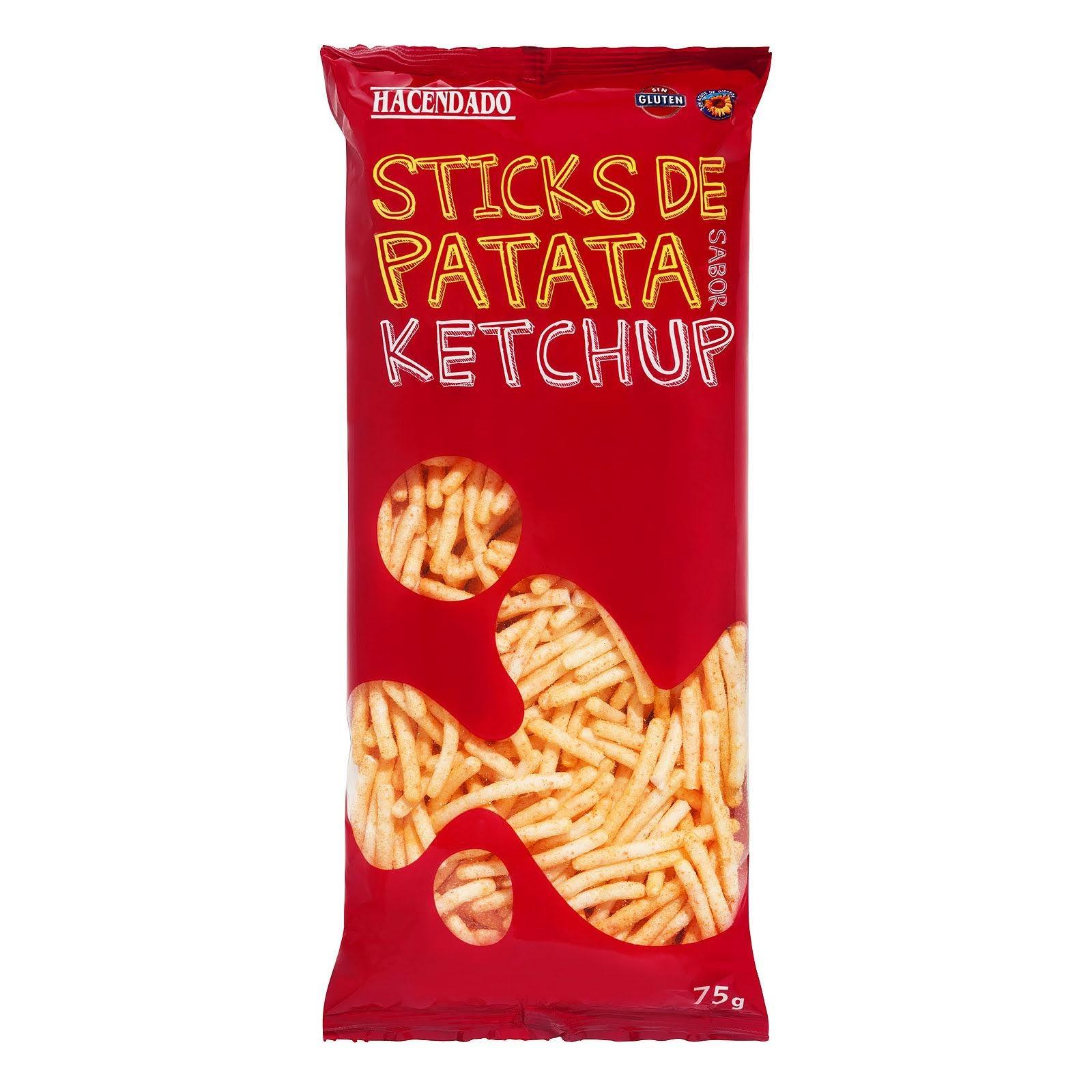 Sticks de patata sabor ketchup Hacendado