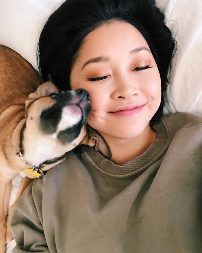 Lana Condor's spoiled puppy.