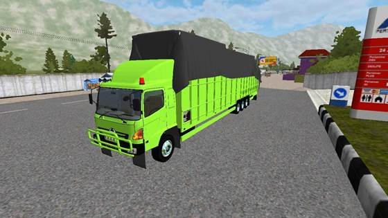 Mod Truck Hino Lohan Tribal Logistic Long Chassis