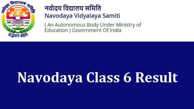 Navodaya Class 6 Result 2021 JNVST Class 6th Selection List, Cut Off Marks