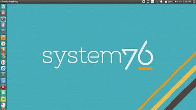 System76 Logo Blue Background